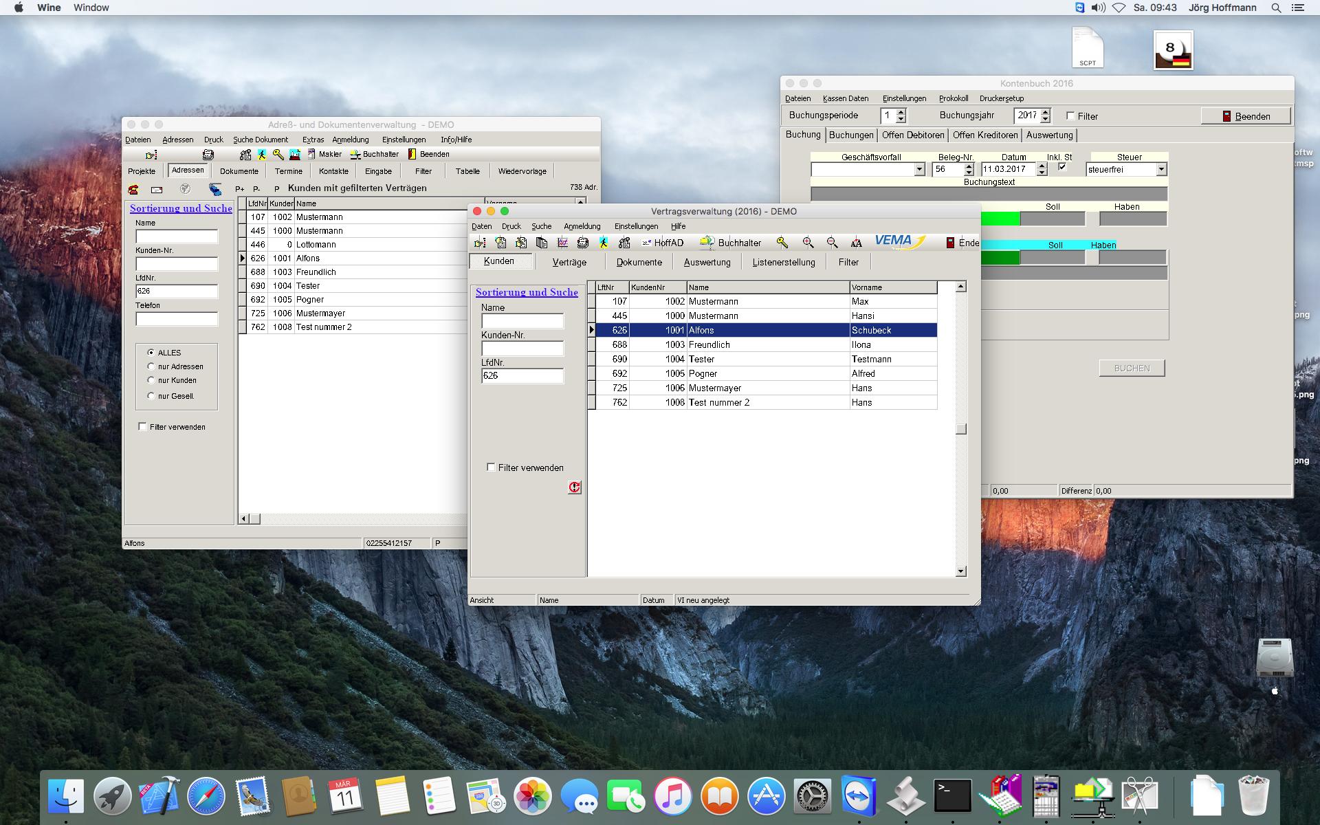 Makler Bürosystem auf dem MAC